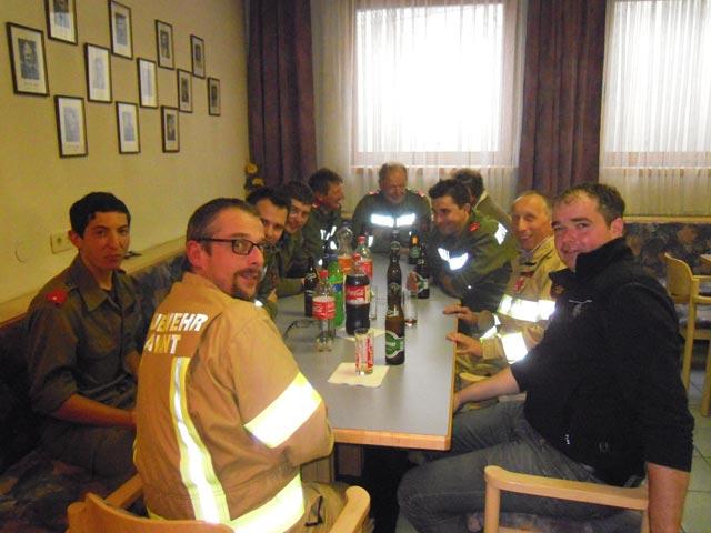 Die Lavanter Mannschaft mit dem neuen Abschnittskommandanten Lienzer Talboden Harald Draxl.