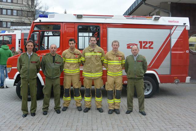 """Das Komando mit unserem """"goldenen"""" Atemschutztrupp und BFI Brunner Franz"""