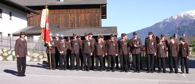 Die Mannschaft marschierte gemeinsam vom Wirts-Platzl zur Wallfahrtskirche St. Ulrich